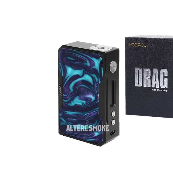 Voopoo Drag 157W Mod Black Resin (Turquoise)