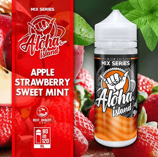 Aloha Island Apple, Strawberry & Sweet Mint (Mix Shake Vape)