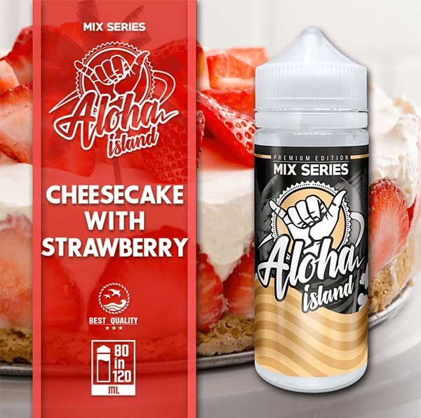Aloha Island Cheesecake & Strawberry (Mix Shake Vape)