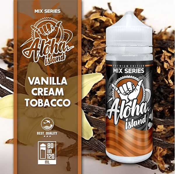 Aloha Island Vanilla, Cream & Tobacco (Mix Shake Vape)