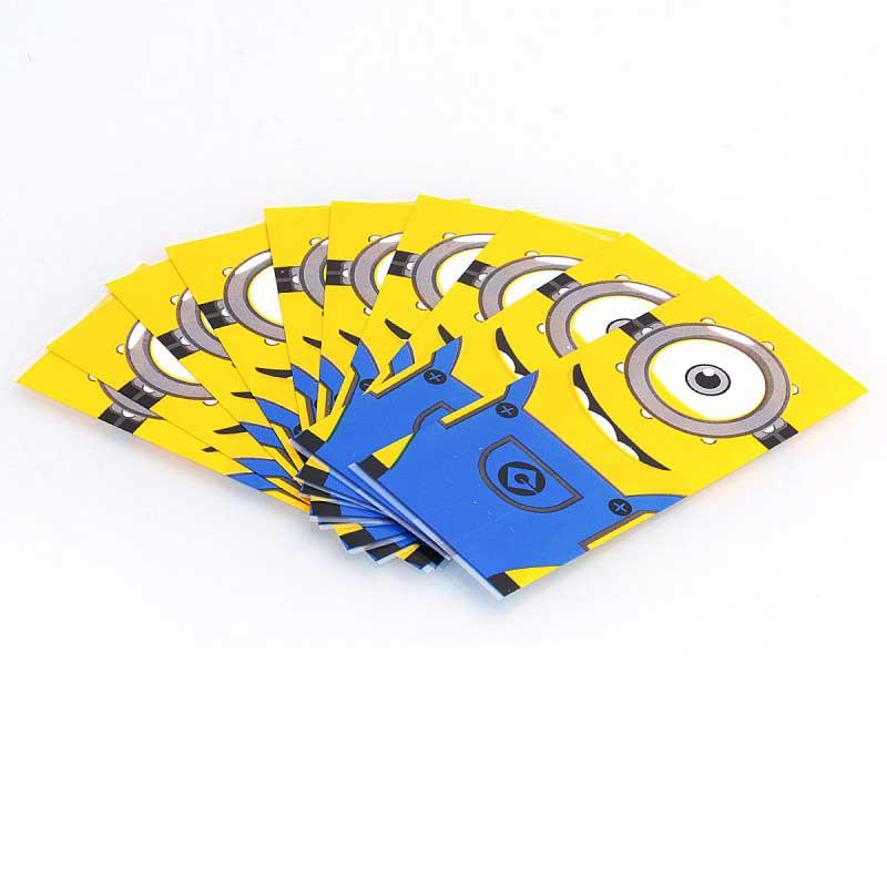 minions-pvc-wrapper-skin-sticker-for-20700-battery-yellow-10-pcs